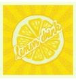 lemon drink background - vector image