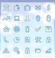25 bank icons set vector image