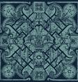 hand drawn floral pattern tile background grunge vector image