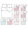 Bedding and linen template sample patterns vector image