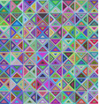 Abstract colorful triangle mosaic background vector image vector image