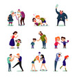 angry male and female people set vector image vector image