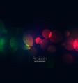 attractive dark neon lights bokeh background vector image