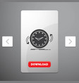 backup clock clockwise counter time glyph icon in vector image