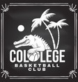 basketball college club badge concept for vector image