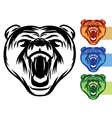 Bear mascot icons vector | Price: 1 Credit (USD $1)