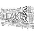 beautiful lake garda italy text word cloud concept vector image vector image
