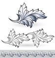 beautiful leaf vector image vector image