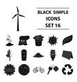 bio and ecology set icons in black style big vector image vector image