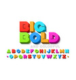 bold colorful 3d font vector image vector image