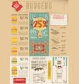 burger menu template vector image vector image