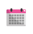 calendar to organizar important events vector image