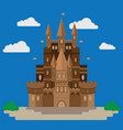 castle in the style of flat design vector image vector image