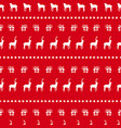 christmas red deer doodle decoration background vector image