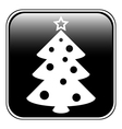 Christmas tree symbol button vector image vector image