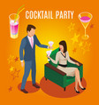 cocktail party rich people composition vector image