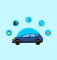 concept with flat style car vector image