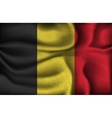 crumpled flag belgium on a light background vector image vector image