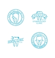 Dental clinic line logo templates vector image