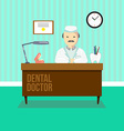 Dentist in dental clinic vector image vector image