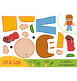 education paper game for children boy in gilet vector image vector image