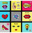 fashion patches set vector image vector image