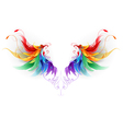 Fluffy Rainbow Wings vector image vector image