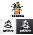 food box logo vector image vector image
