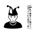 Fool Icon With Air Drone Tools Bonus vector image