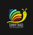 funny snail for your design vector image vector image