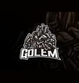 golem mascot sport logo design vector image