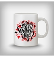 Happy Mothers day greeting card hearts lettering vector image