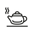 hot kettle silhouette icon on white background vector image