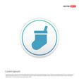 icon socks - white circle button vector image vector image