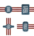 Labor Day realistic textile Labels Set vector image