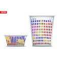 laundry basket with dirty clothes vector image