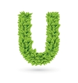Letter of green leaves with shadow vector | Price: 1 Credit (USD $1)