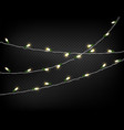 light garlands isolated on transparent background vector image