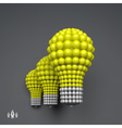 Lightbulb Idea Concept 3d Spheres Composition vector image vector image