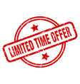 limited time offer vector image vector image