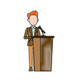 man in suit businessman or politician stands at vector image vector image