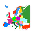 map of europe with country borders isolate on vector image