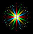 multicolored lights flame petals in a circle vector image vector image
