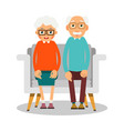 old people sitting on the sofa sit elderly woman vector image vector image