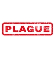 Plague Rubber Stamp vector image