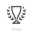 prize icon editable stroke vector image