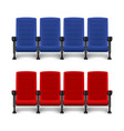 realistic comfortable movie chairs cinema empty vector image vector image
