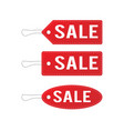 red leather sale price tags set vector image vector image