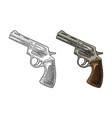 revolver with short barrel and bullets vector image vector image