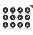 Rocket icons on white background vector image vector image